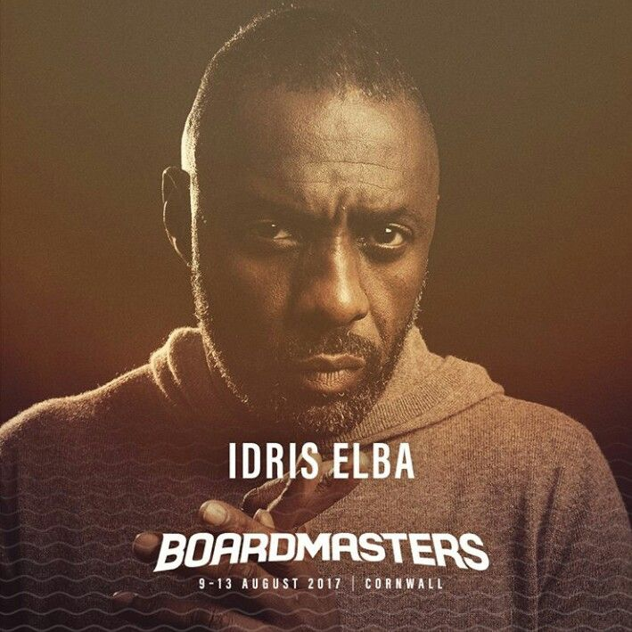 English actor, musician, and DJ Idris Elba is playing Boardmasters Festival 2017 in Cornwall