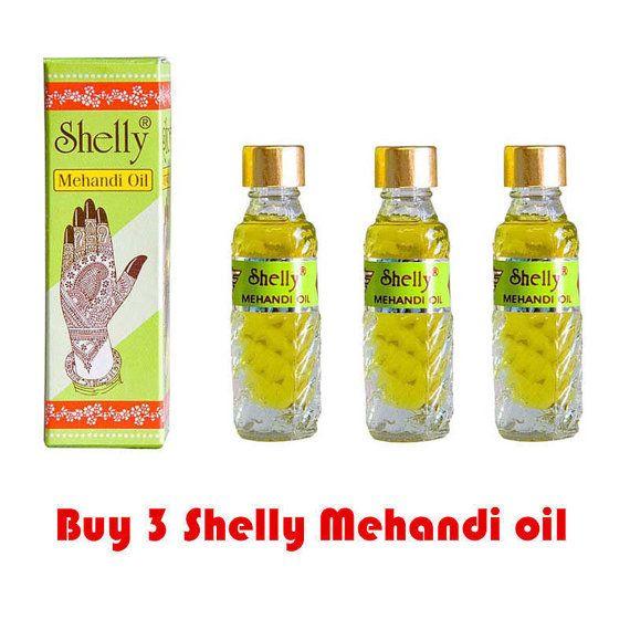 3 Shelly Mehandi Henna Oil Mehndi for Darkening Henna Body