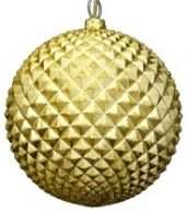 100mm Champagne Pineapple Matt Bauble with Glitter Code: BADE010CHAPIAPPM