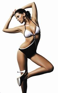 Montreal high-end swimwear brand, Aqua di Lara. Known for her very sexy monokinis (www.aqaudilara.com)