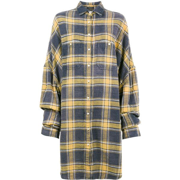 R13 Oversized Plaid Shirt ($576) ❤ liked on Polyvore featuring tops, multicolour, tartan shirt, colorful plaid shirt, plaid shirts, multicolor shirt and shirt top