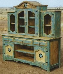 Western style china hutch El Dorado model - would totally re-do the theme/style - but this would be PERFECT in my dining room