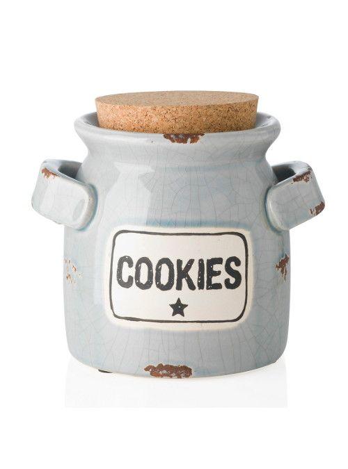 Contenitore basse Cookies color avio realizzato in ceramica. Un bellissimo…