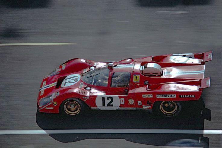 24 heures du Mans 1971 - Ferrari 512M #12- Pilotes : Sam Posey / Tony Adamowicz - 3ème
