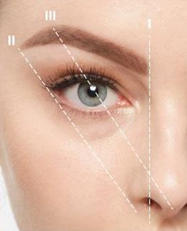 ANASTASIA SOARE | Use Brow Wiz to mark the start and end points of the brow | Align the pencil from the middle of the nostril pointing vertically. Hold the pencil from the tip of the nose at an angle so it covers the middle of the iris. Where the pencil touches the brow is the highest part of the arch. Hold the pencil from the corner of the nostril and align it with the outside corner of the eye. Where it overlaps the brow bone – this marks the end-point of the brow | #beauty #eyes #brows