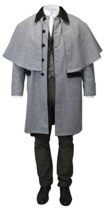 Coburn+Great+Coat+-+Gray+Wool