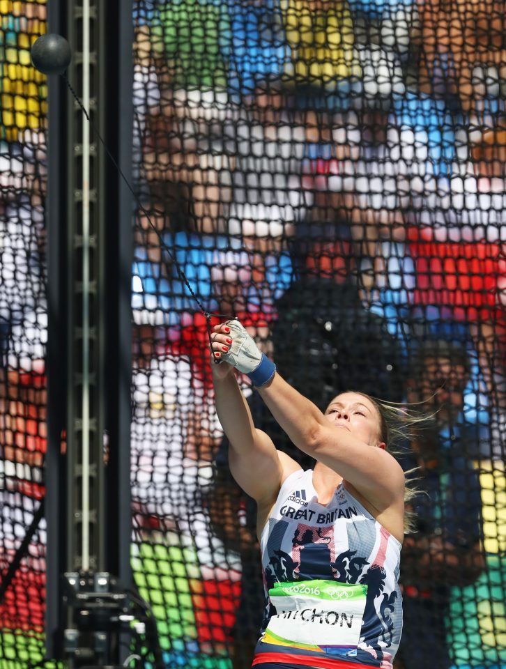 Sophie Hitchon's third and final throw secured a bronze medal