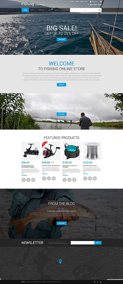 Fishing Online Store #WooCommerce #template. #themes #business #responsive #WooCommercethemes