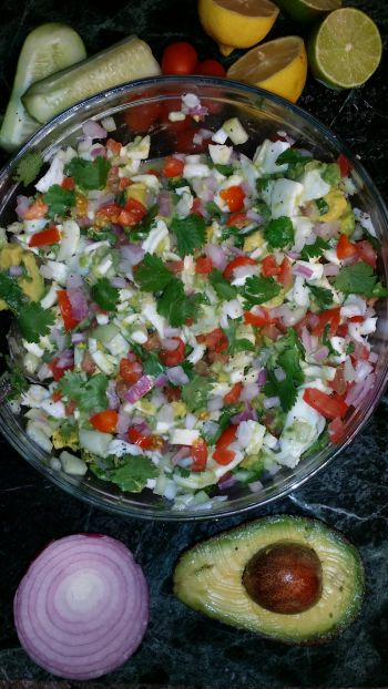 Here is a great Raw, Vegan, Gluten-Free and Deelicious recipe that contains Coconut Meat & Coconut Oil… It's so YummyYummyBaby! Coconut Ceviche Ingredients:  As seen above: 2-4 You…