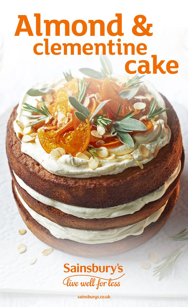 With festive candied clementine, this bake is a great alternative to fruit cake or the perfect Boxing Day treat.
