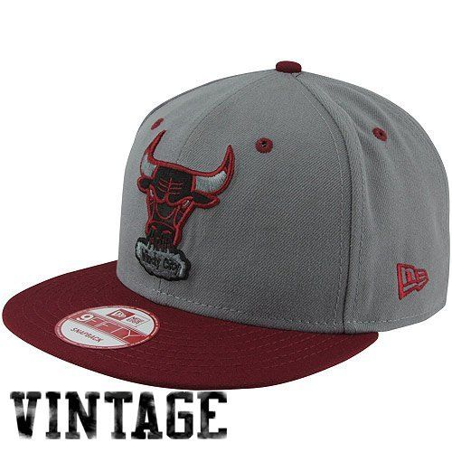 NBA New Era Chicago Bulls Custom 9FIFTY Snapback Hat - Gray/Red by New Era. $30.00. 80% Polyester/20% Wool. Adjustable plastic snap strap. Flat bill. Structured fit. New Era Chicago Bulls Custom 9FIFTY Snapback Hat - Gray/Red80% Polyester/20% WoolQuality embroideryContrast color accentsAdjustable plastic snap strapFlat billImportedOfficially licensed NBA productStructured fit80% Polyester/20% WoolStructured fitAdjustable plastic snap strapFlat billQuality embroide...