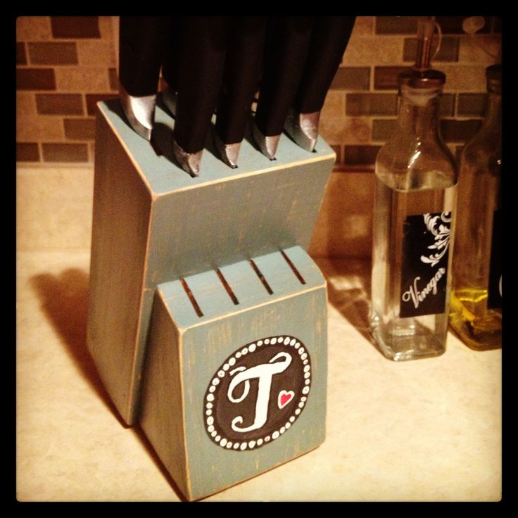 Painted Knife Block: 193 Best Images About Owl Kitchen Makeover On Pinterest