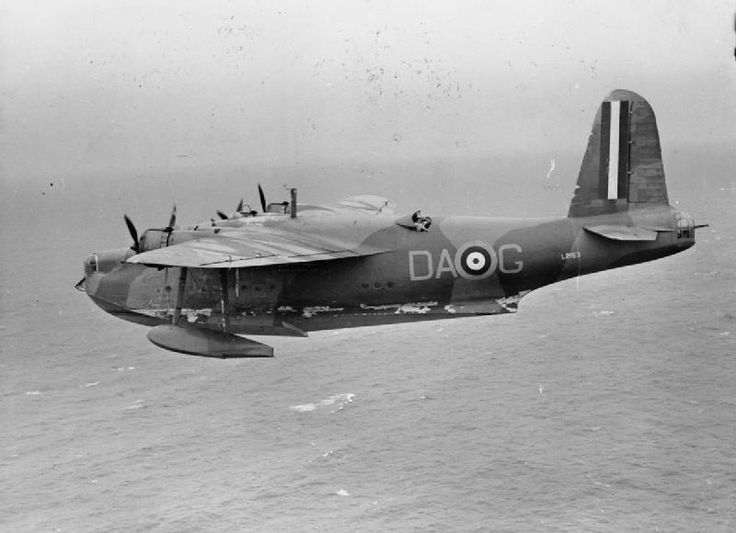 Short Sunderland Mark I, L2163 'DA-G', of No. 210 Squadron RAF based at Oban, in flight over the Atlantic while escorting Canadian Troop Convoy 6 (TC.6), inbound for Greenock.1943