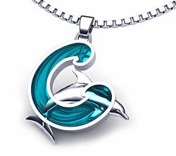 Part of our unique dolphin jewelry collection, Wave of Hope stainless steel dolphin necklace is made in the U.S.A.