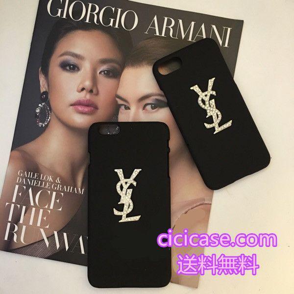 数量限定の手作り イヴサンローランiPhone7 PLUS キラキラスマホケース ダイヤ付き ブランドysl iphone6s ハードカバー 韓国風 7プラスケース おしゃれ