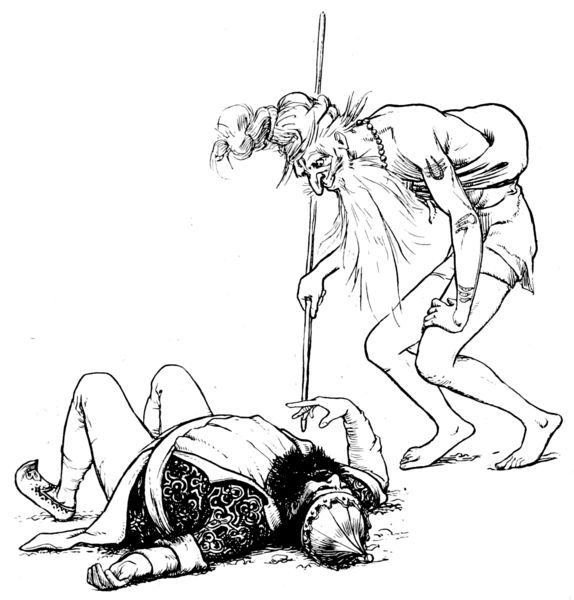 File:Illustration inset at page 180 of Indian Fairy Tales