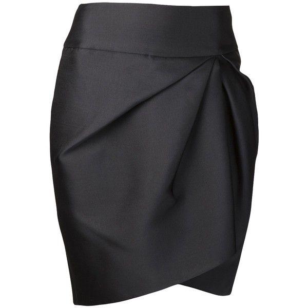 GIAMBATTISTA VALLI asymmetrical pencil skirt found on Polyvore