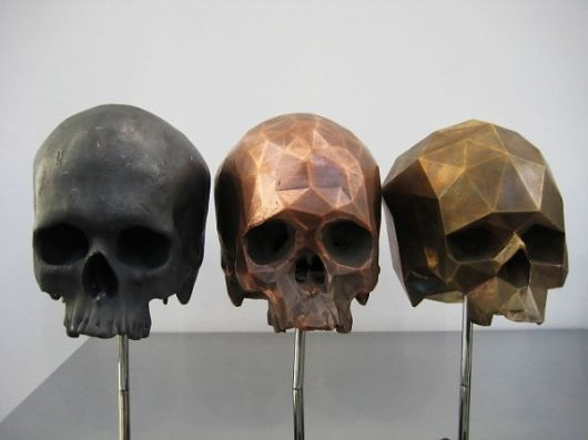 skull sculptures by Matthew Day Jackson