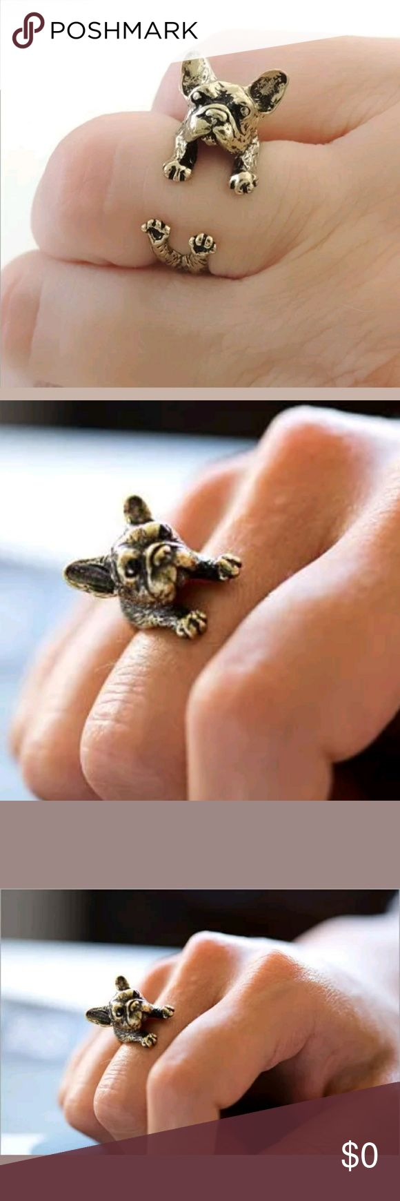 New. Bull Terrier dog ring Vintage adjustable New Vintage  Bull Terrier  dog ring adjustable Silvet plated Jewelry Rings