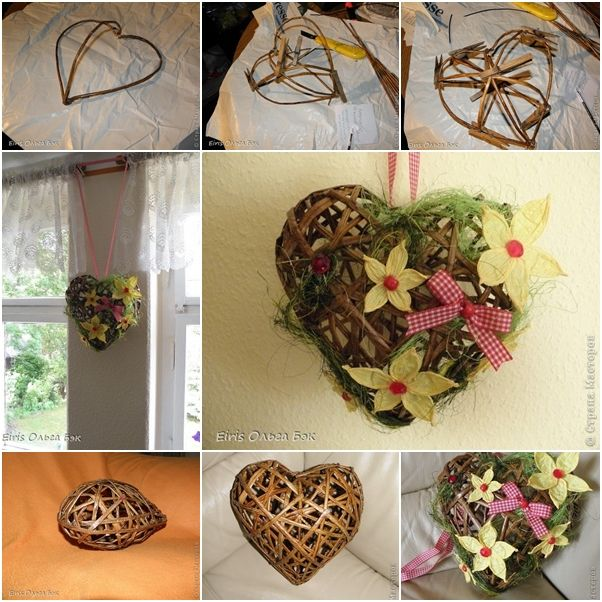 How to Make Heart Shaped Wreath from Recycled Newspaper