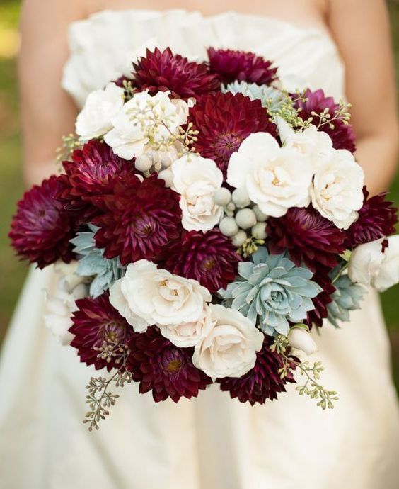 Burgundy-and-Navy-Bridesmaids | Navy bridesmaids, Bride bouquets and ...