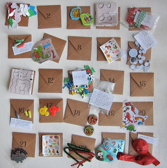 24 days till Xmas  Fun Pack Advent Calendar by EcoMonster on Etsy, $42.00