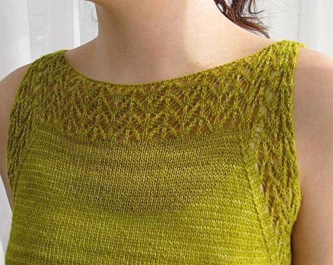 Etherial tank: Knitty Spring+Summer 2013 free pattern