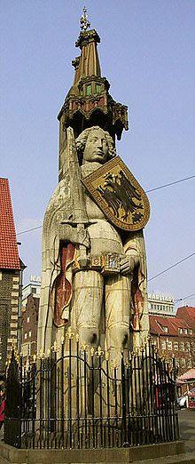 Statue de Roland à Brême (Allemagne)