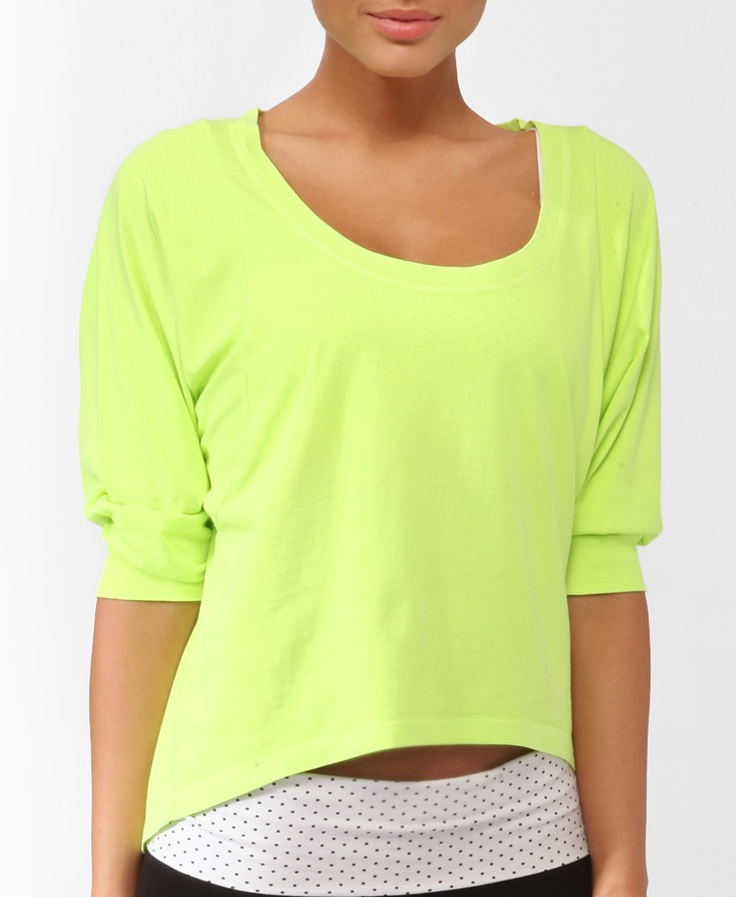 Neon Trapeze Dolman Top | FOREVER21