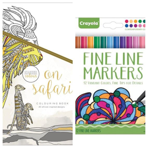 On Safari Kaiser Colour Adult Coloring Book By KaysCraftSupplies