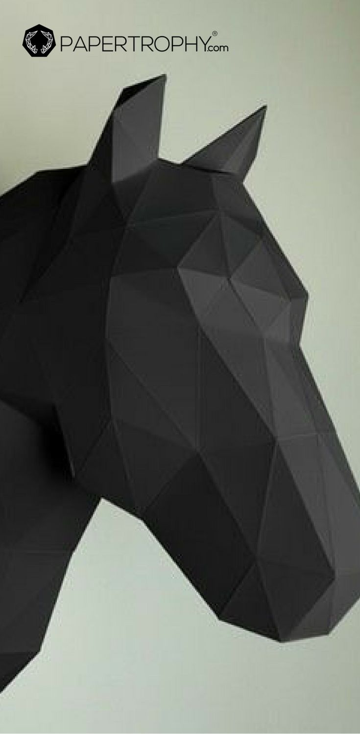 74 best papercraft animals images on pinterest black gold paper this horse wall trophy is not meant for the stables but would be better on your walls find this pin and more on papercraft animals jeuxipadfo Image collections