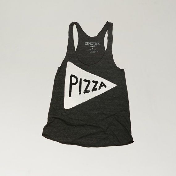 Women's Pizza Tank Top, perfect for summer! - yoga tank top, summer vacation top, pizza clothing on Etsy, $25.00