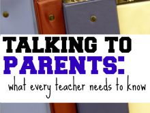 Things to remember when talking to parents!