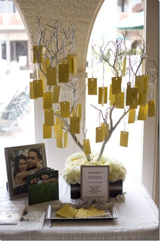 wedding wish tree via onthegobride.com; a Dutch wedding custom which has gained popularity worldwide