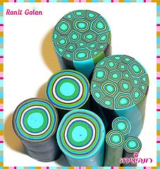 polymer canes by Ronit Golan