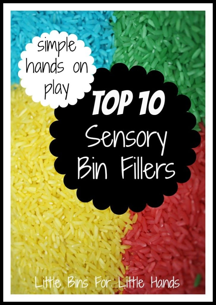 Top 10 Sensory Bin Fillers Updated