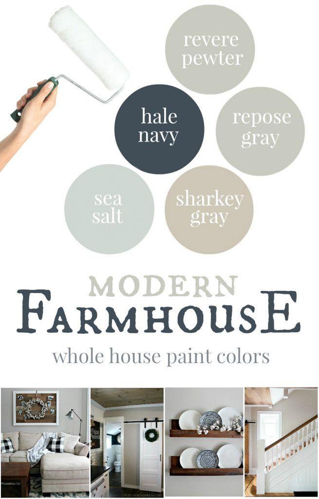 our house modern farmhouse paint colors colors pinterest rh pinterest com