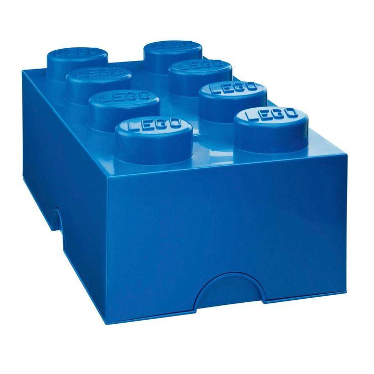 Inreda med LEGO eller samla allt ditt lego i dessa praktiska förvaringsboxar? Javisst! Med förvaringsboxar och papperskorgar i alla de klassiska legofärgerna. Perfekt för barnkammaren men egentligen snyggt, och praktiskt, i vilket rum som helst. Alla klossar och huvuden är kompatibla och kan byggas ihop, tillverkade av plast. Mått: 25 x 50 x 18 cm