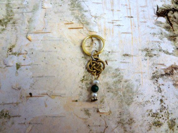 Celtic Dreadlock Hair Bead Dangle Charm Large Hole by IconicLocks
