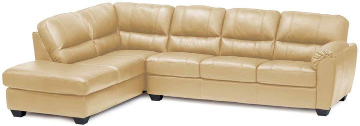 Asstd National Brand Leather Possibilities Pad-Arm 2-pc. Left-Arm Corner Sectional
