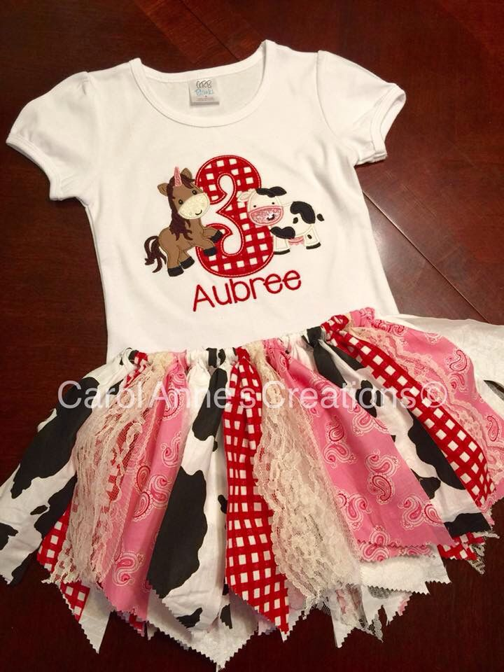 Farm Birthday outfit shirt ❤️ Cowgirl