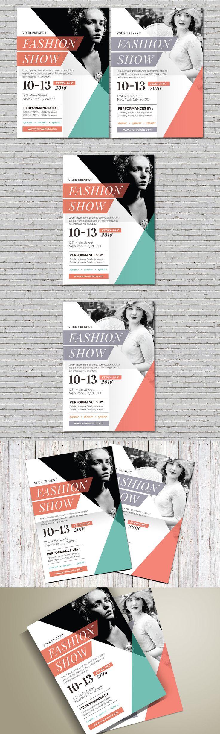 Fashion Show Flyer Template AI, PSD