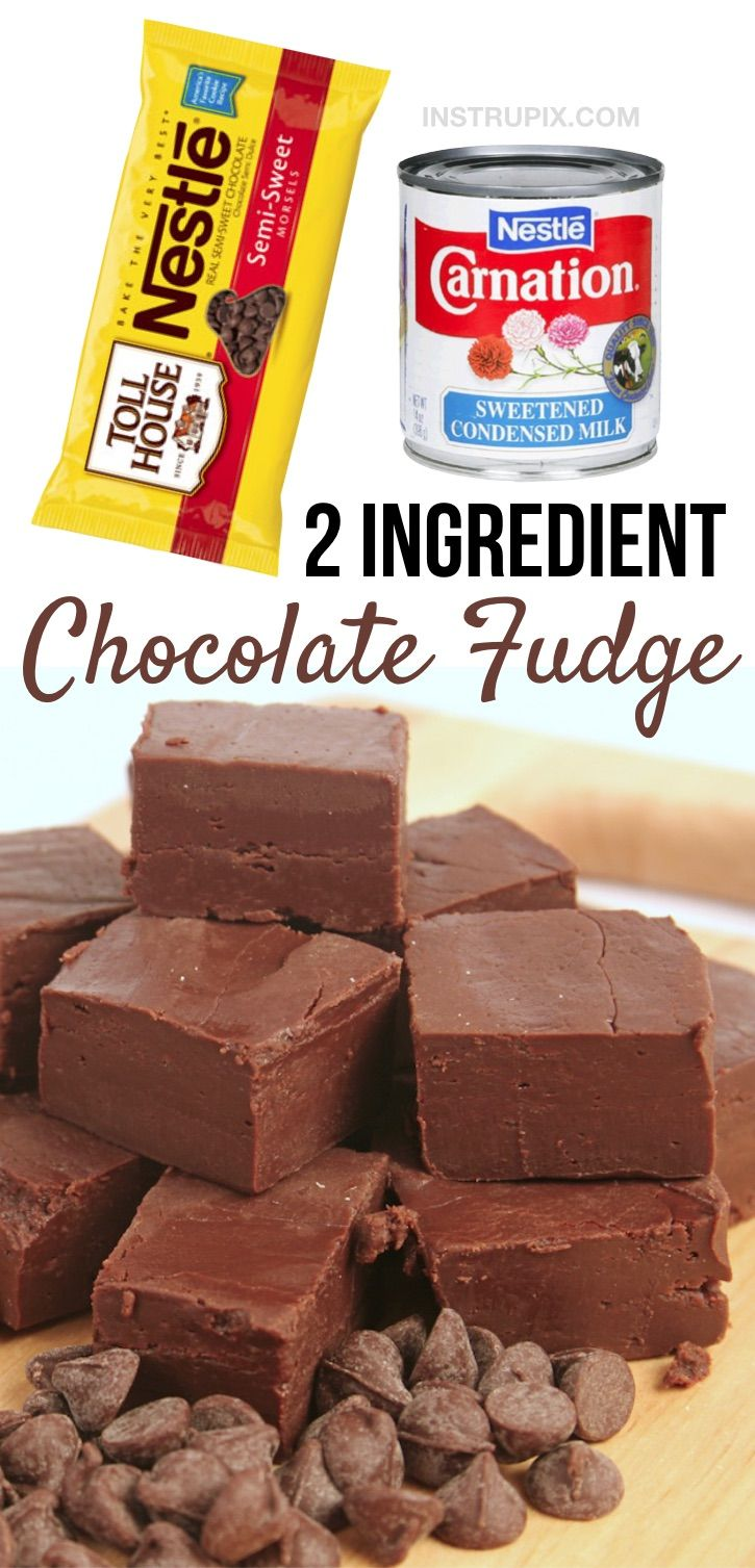 Easy 2 Ingredient Chocolate Fudge Recipe Recipe In 2020 Easy Chocolate Fudge Fudge Recipes Fudge Recipes Chocolate