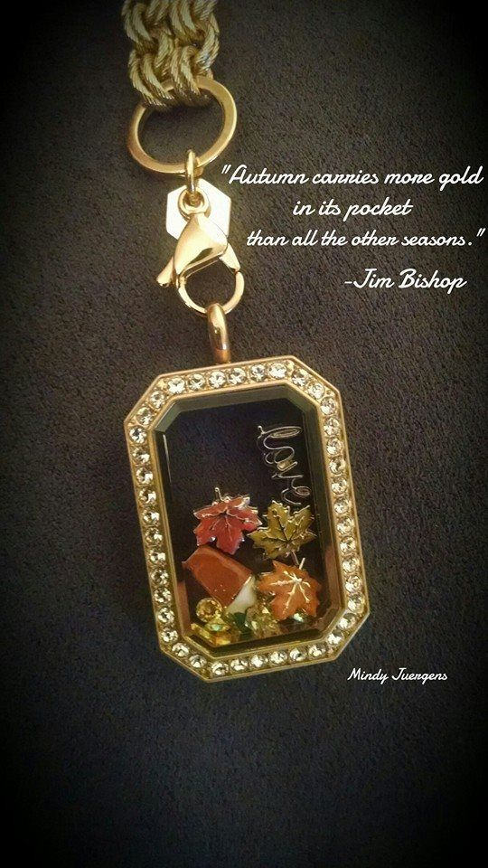 How beautiful are the autumn colors in this Gold Heritage Locket ? www.locketsbybella.OrigamiOwl.com