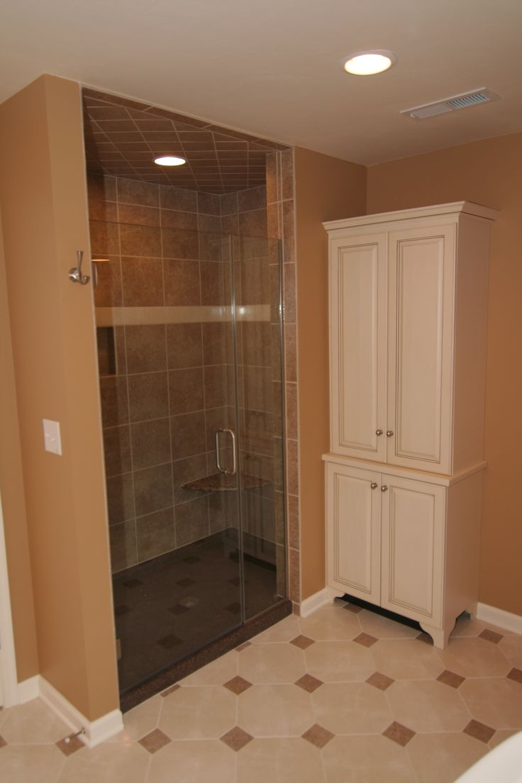 Large Tiled Walk In Shower Remodel With Pull Open Door | 3 Day Kitchen U0026