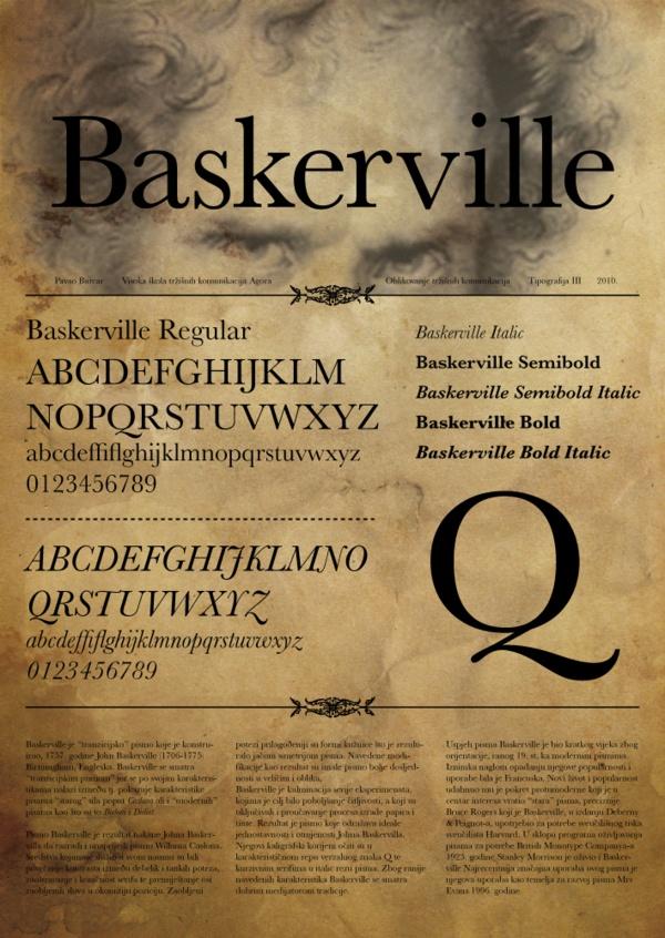 Baskerville | Type Specimen Poster