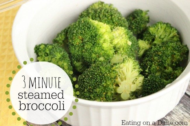 How To Steam Broccoli In The Microwave Steamed Broccoli Broccoli Broccoli Microwave