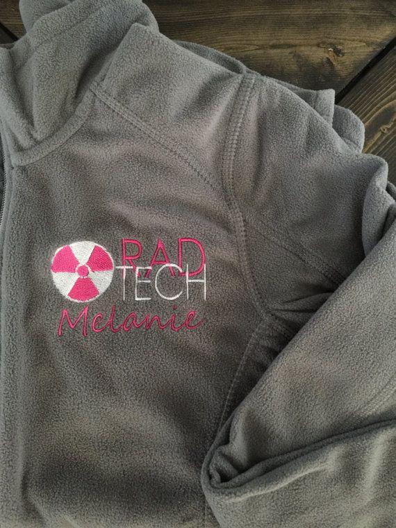 Personlized Rad Tech X-Ray fleece jacket by FortLedbetterDesigns