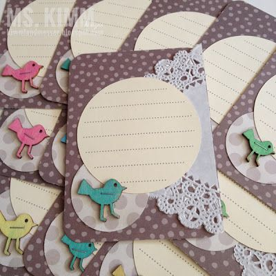 Handmade Project Life Cards - Doilies and Veneers.
