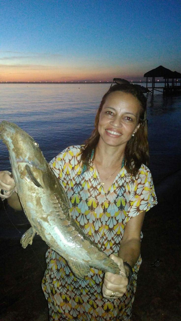 Peixe abotoado pescado em Palmas-TO pela Domingas minha esposa.